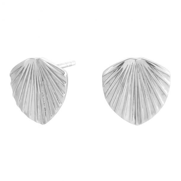 Rhodineret sølv ørestikker Licuala - 325 607