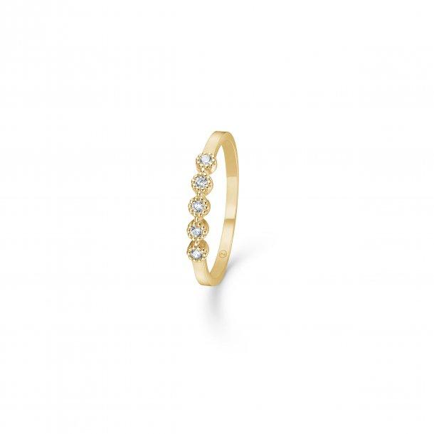 Mads Z 8kt Dido ring med zirkonia - 3347170