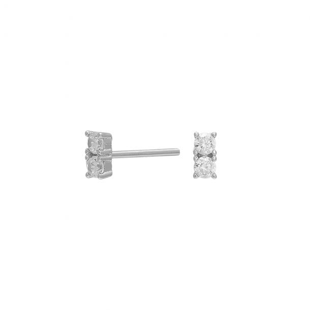 Rhodineret sølv ørestikker EVENOR 5 mm - 345-227