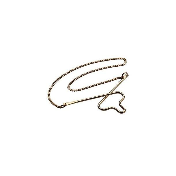 Forgyldt slipsekæde - 491588FG8
