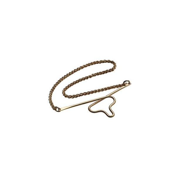 Forgyldt slipsekæde - 491589FG8