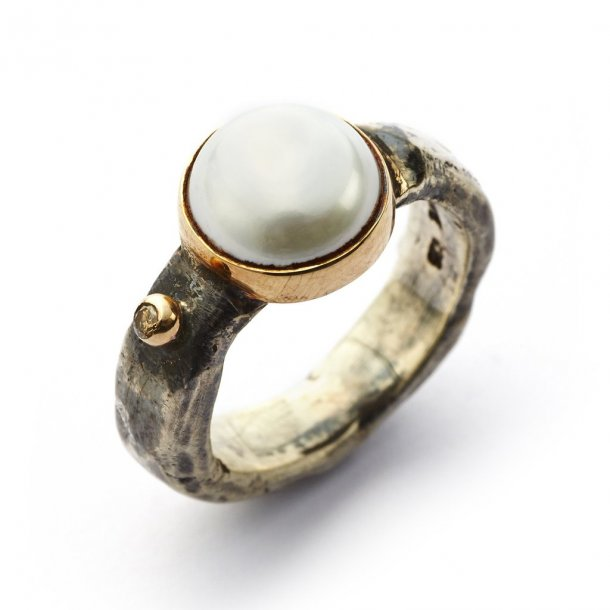 By Birdie Ring Antique Pearl & Diamond - 50110100P