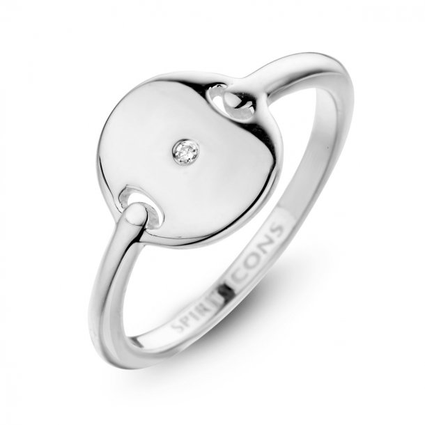 Spirit Icons pulse ring med diamant - 51121