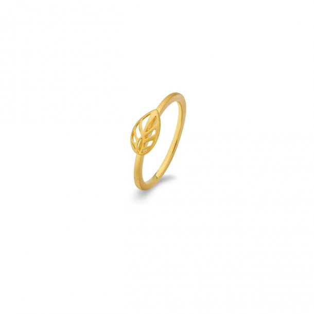 Spirit Icons forgyldt Leaf ring - 53032