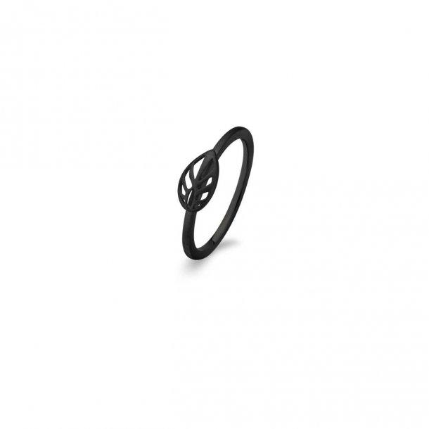 Spirit Icons oxyderet Leaf ring - 53033