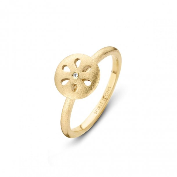 Spinning Icons forgyldt Flora Chic ring  - 53492