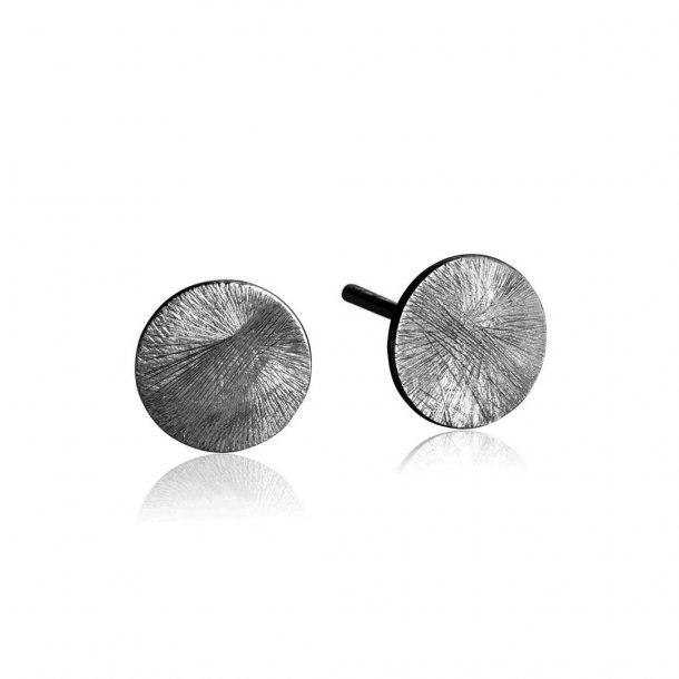 Oxideret sølv ørestikker - 5357-3