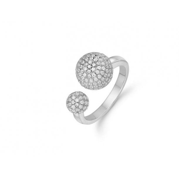 Kranz & Ziegler Rhodineret sølv ring - 6205819