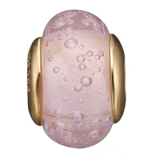Christina forgyldt Bubbly Pink Globe - 630-G159