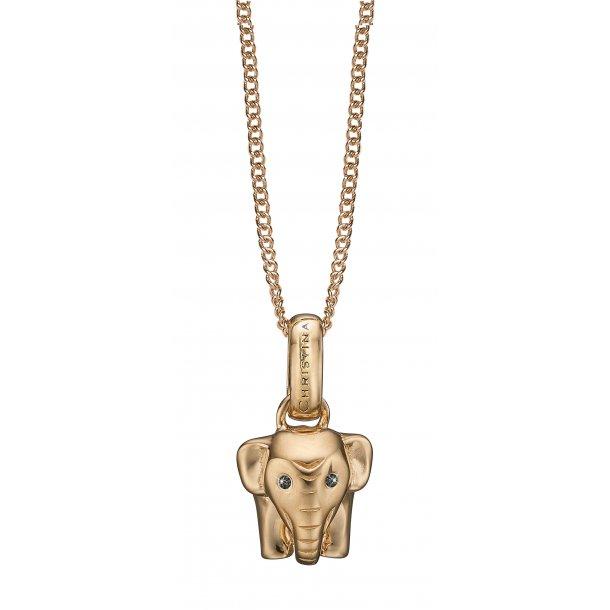 CHRISTINA Lucky Elephant vedhæng - 680-G45