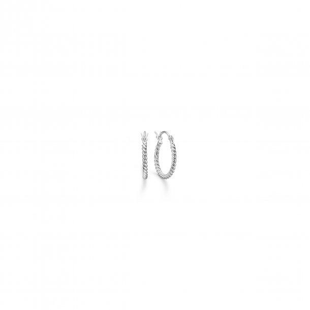 Mads Z. sølv creol snoet 15 mm - 8110012