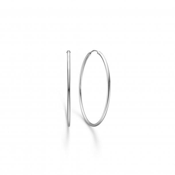 Sølv creol 40 mm - 8110524