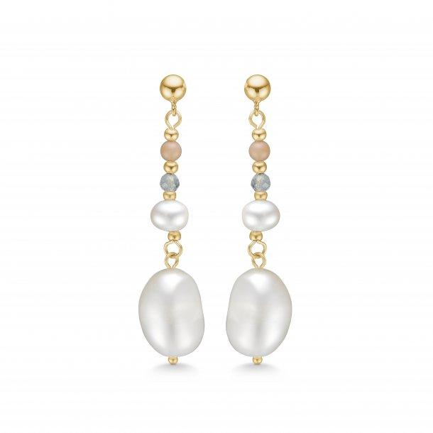 Mads Z Pearl forg. ørehænger med perler - 8213232