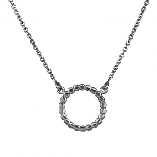 Oxideret sølv vedhæng med kæde - 825 585