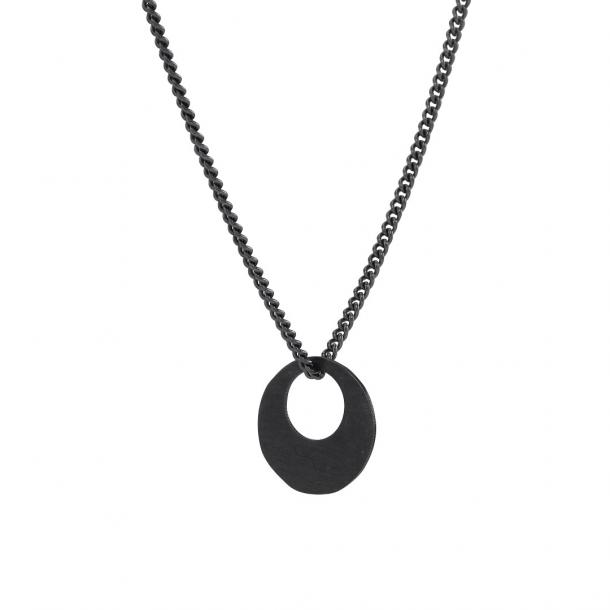 Oxideret sølv vedhæng med kæde - 825715-2