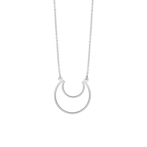 Sølv vedhæng m. kæde, Moon - 825 749