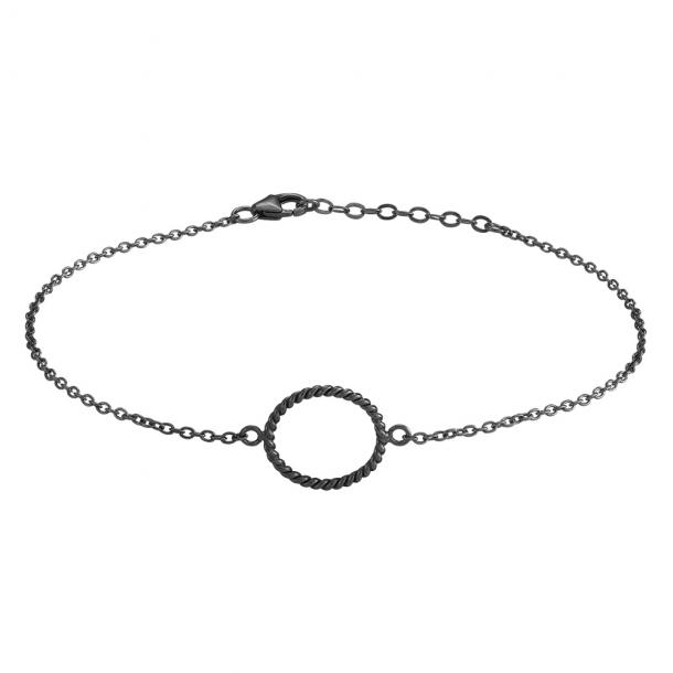 Oxideret sølv armbånd Petit 15 mm - 833 001-2