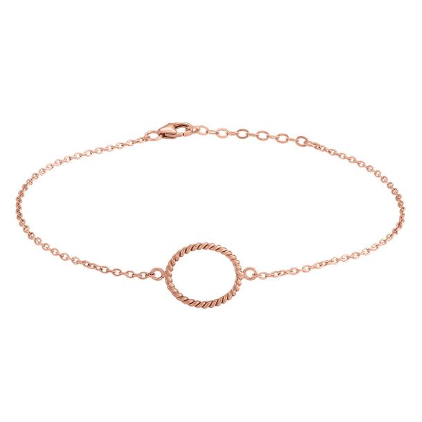 Rosaforgyldt sølv armbånd Petit 15 mm - 833 001-4