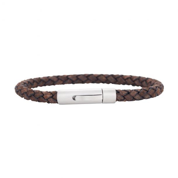 Son, læder armbånd Grå  - 897 008-GREY19