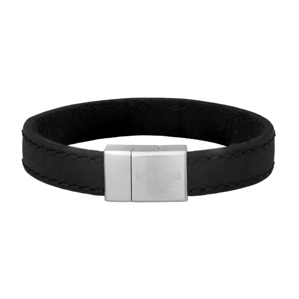 SON armbånd sort kalvelæder 12 mm - 897-016-BLACK21
