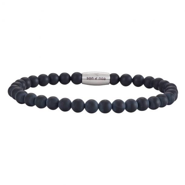 SON Herre armbånd matt black onyx - 898004-19