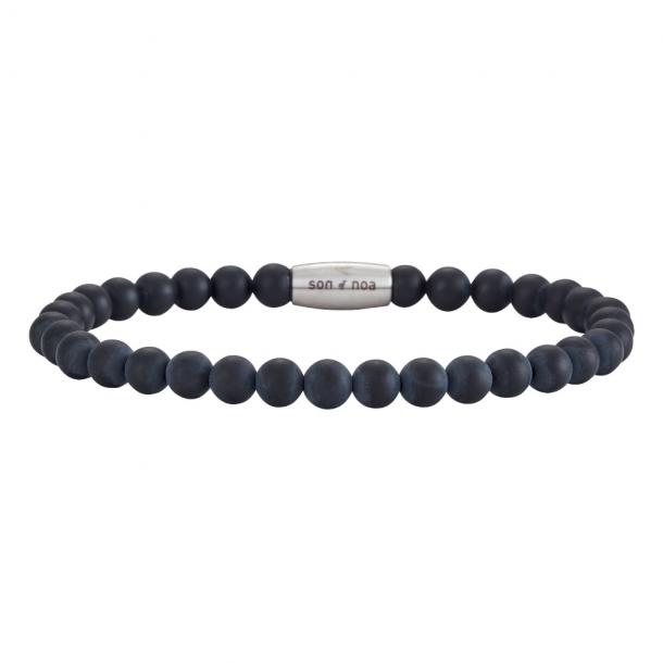 SON Herre armbånd matt black onyx - 898004-21