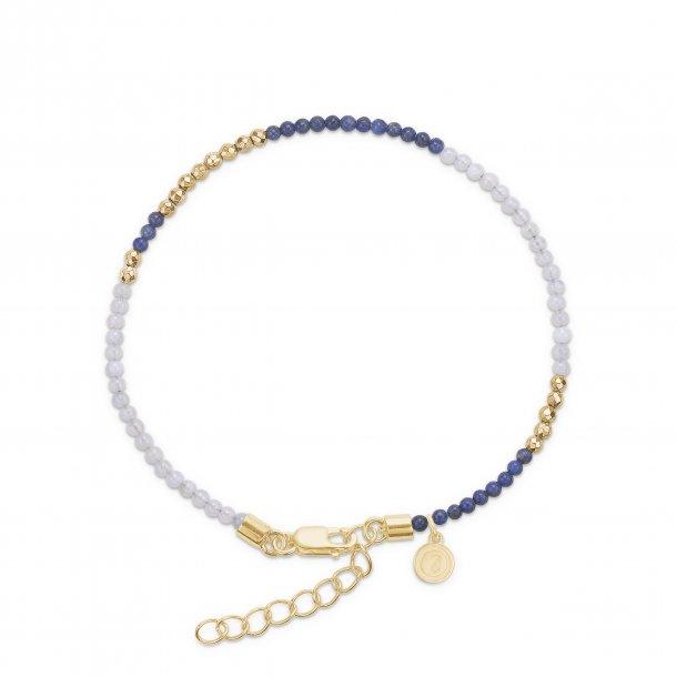 Mads Z Lapis, blå agat sølv hæmatit armbånd - 9156064