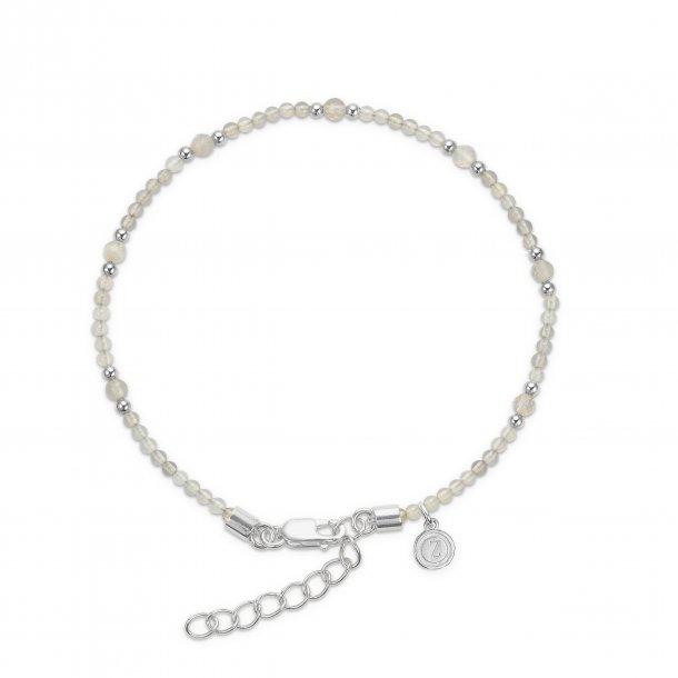 Mads Ziegler sølvarmbånd med grå agat - 9156067