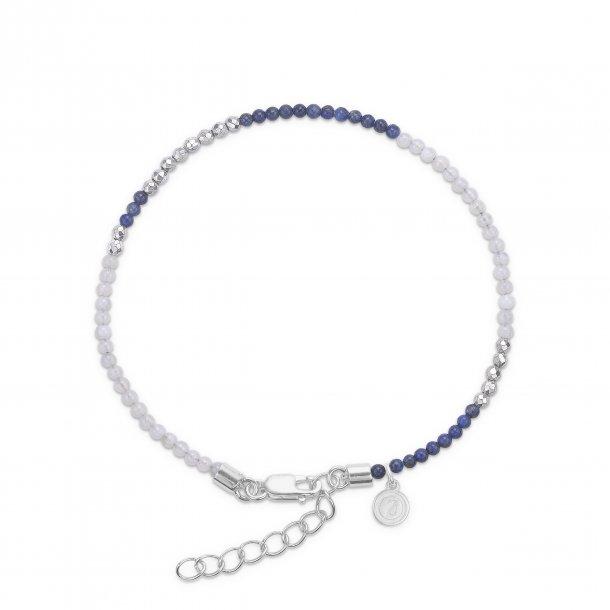 Mads Z forg. armbånd med lapis og blå agat - 9256064