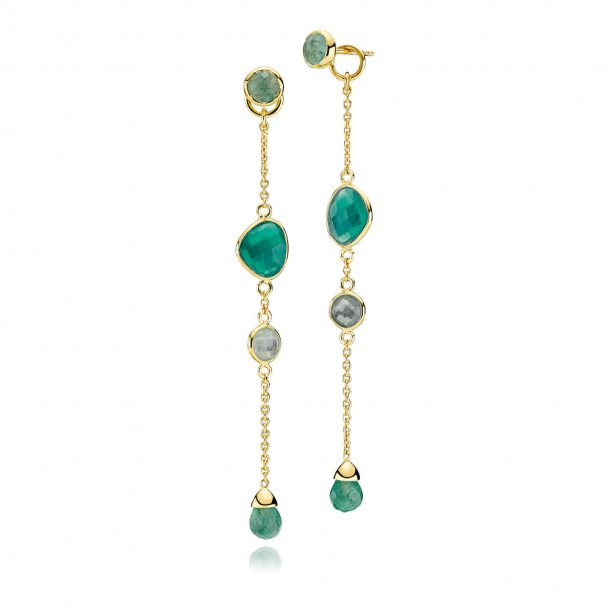Izabel Camille Orient forg. øreringe grøn onyx - A1501GS-GREENONYX