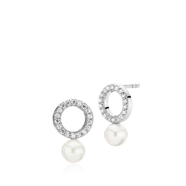 Izabel Camille Shine sølv øreringe - A1606SWS-WHITE
