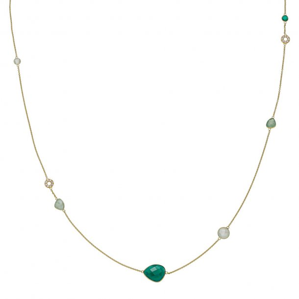 Izabel Camille Orient forg. halskæde 100 cm - A2016GS-GREEN