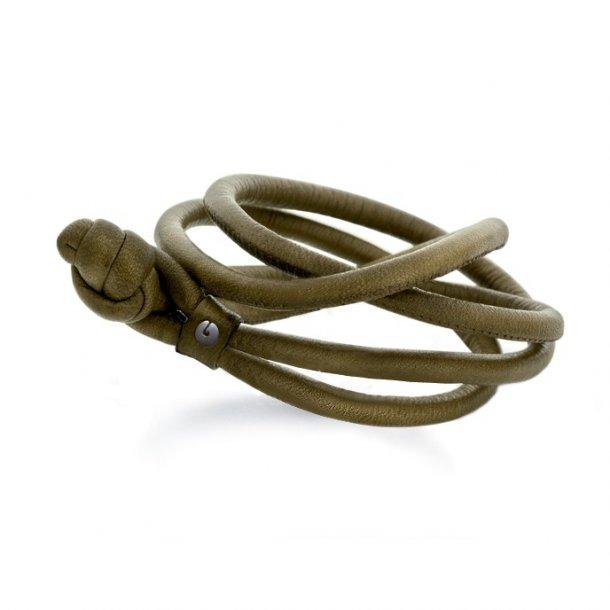 Ole Lynggaard Oliven læderarmbånd - A2512-010