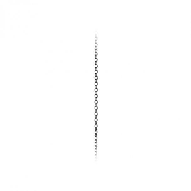 Ole Lynggaard Oxideret sølv anker kæde - C0071-304