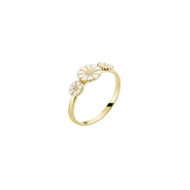 LUND Copenhagen Marguerit Ring Med 3 Blomster - 907075-3-M