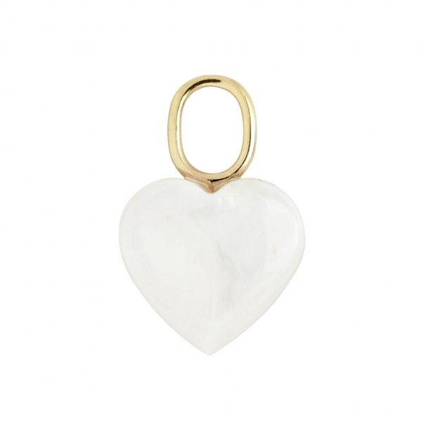 Maria Black Mother Heart charm - 100804YG