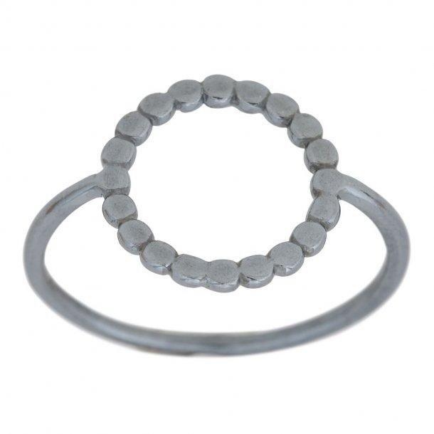 Oxideret sølv ring - 125 248