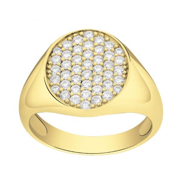 Forgyldt sølv ring Aya - 145 077-3