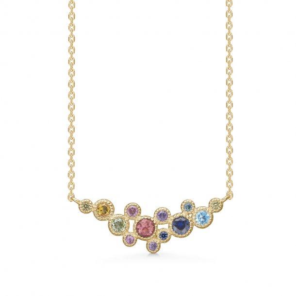 14 karat Mads Z Luxury Rainbow halskæde - 1524062