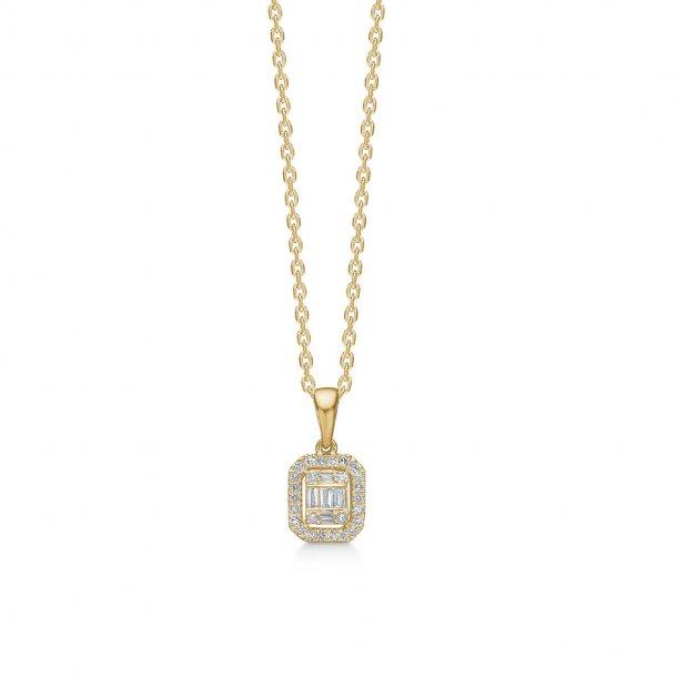 14 kt guld Mads Z Elizabeth vedhæng med diamanter - 1531030
