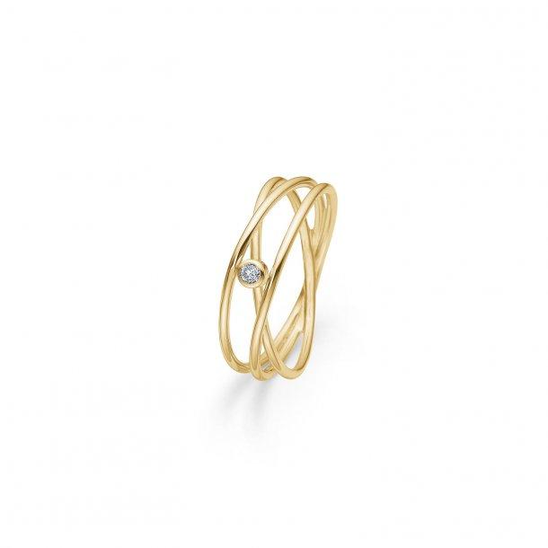 Mads Z Diamond Nest 14 kt ring - 1541095