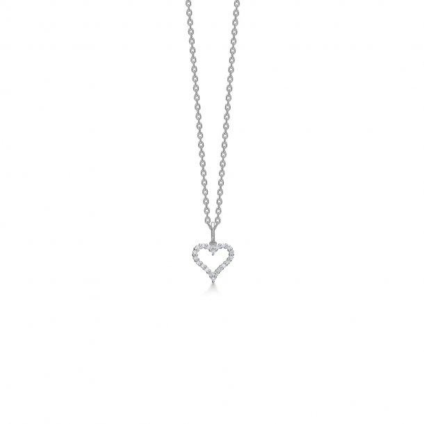 14 karat hvidguld Mads Z Tender Heart vedhæng - 1631312