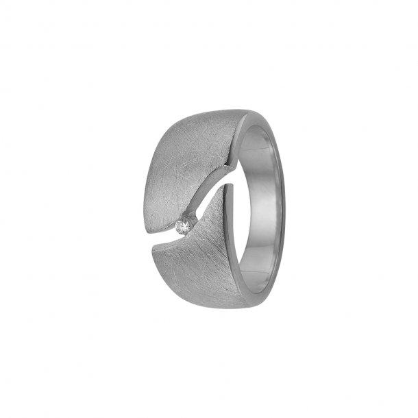 Aagaard sølv ring med zir - 1800-S-S01