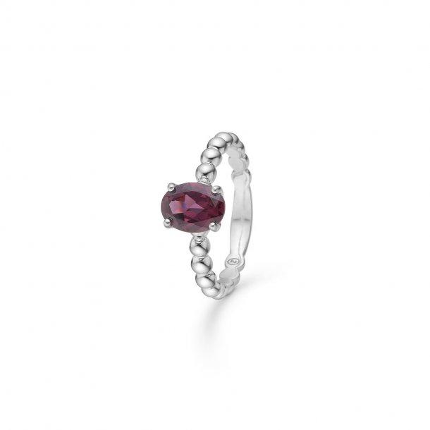Mads Z Berry ring i sølv med granat - 2146092