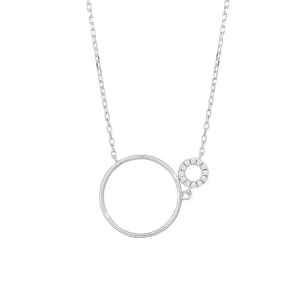 Rhodineret sølv kæde med vedhæng DONNANOR  - 246-003