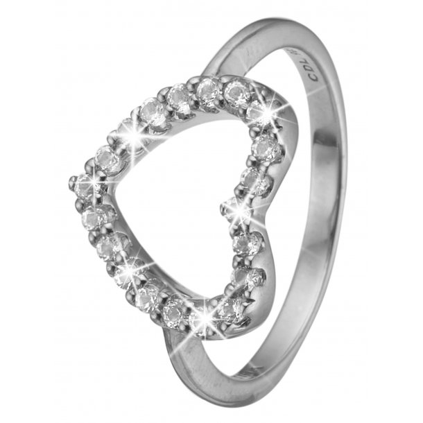 CHRISTINA sølv ring Topaz Heart - 3.21A