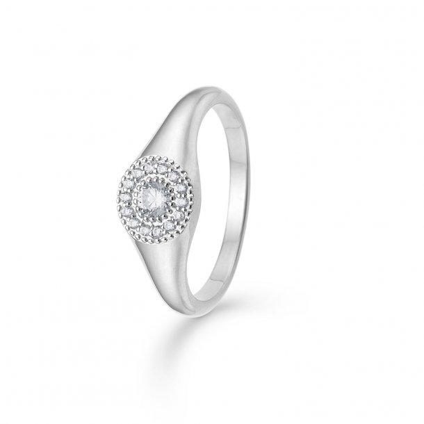 Mads Z Rosette ring i sølv - 3147112