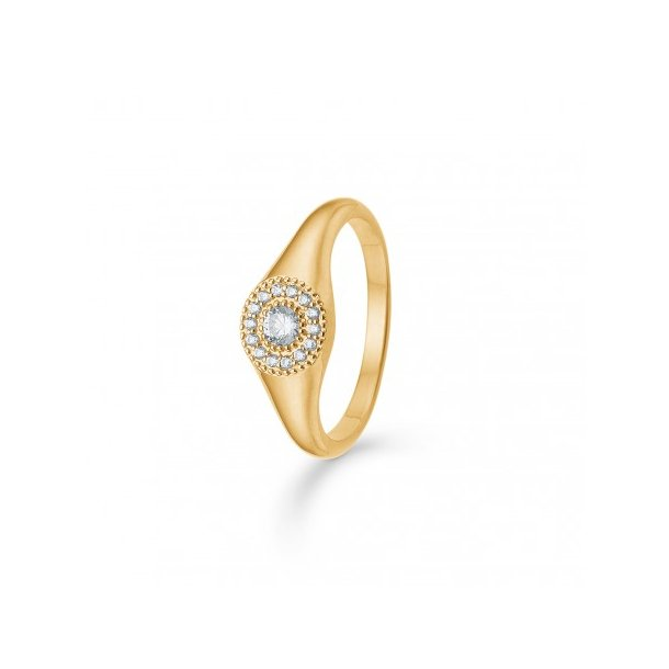 Mads Z Rosette ring i guld - 3347112