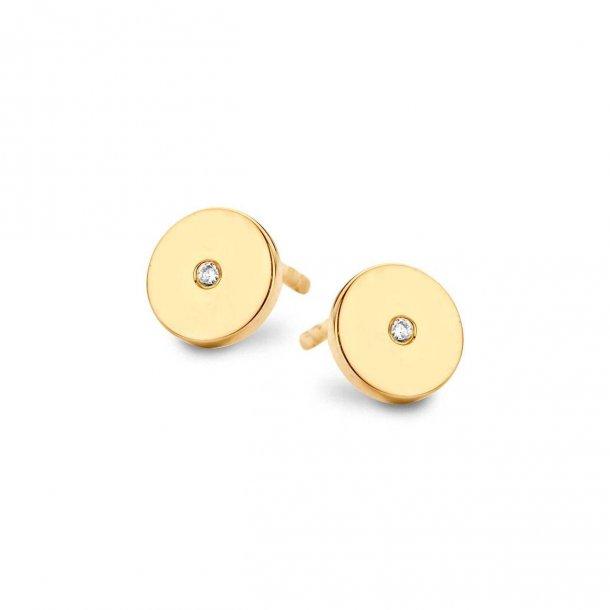 Spirit Icons Pulse ørestikker i forgyldt sølv med diamanter - 40582