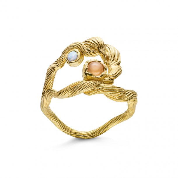 Maanesten Curl ring i forgyldt - 4747A